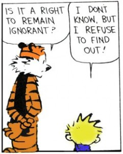 is it right to remain ignorant