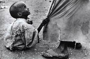 starving child pleading